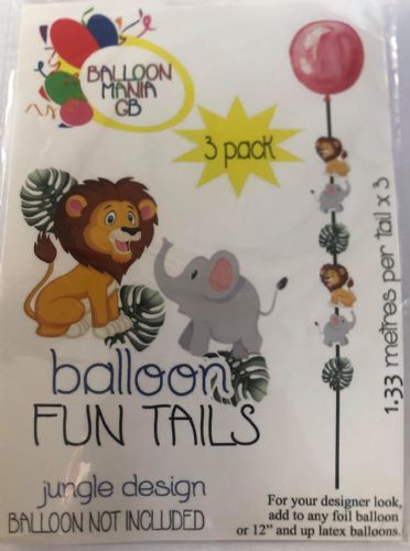 JUNGLE THEME TAILS THREE PACK